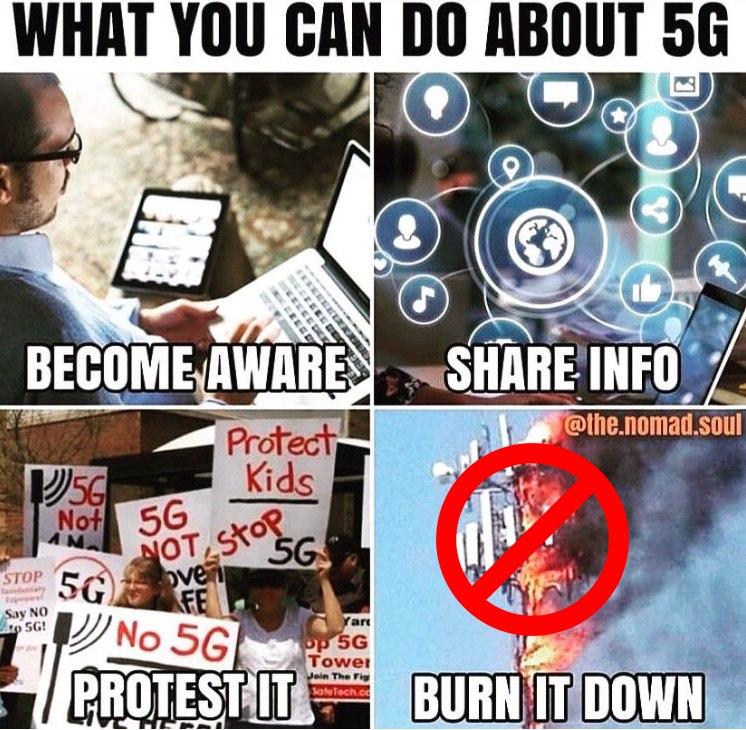 Nesouhlasíme s 5G, ale ničení není řešení!
